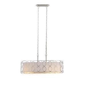 Luminaire d'îlot moderne contemporain standard en métal par Scott Living, nickel brossé