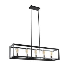Luminaire d'îlot industriel standard en métal par Scott Living, nickel brossé