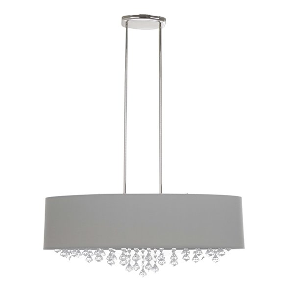 Scott Living Isabella Chrome Modern/Contemporary Drum Incandescent Large (Larger than 22-in) Pendant Light