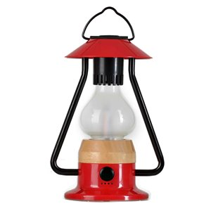 Tru De-Light Romantico 240 Lumens LED Rechargeable Red Camping Lantern ( Battery Included )