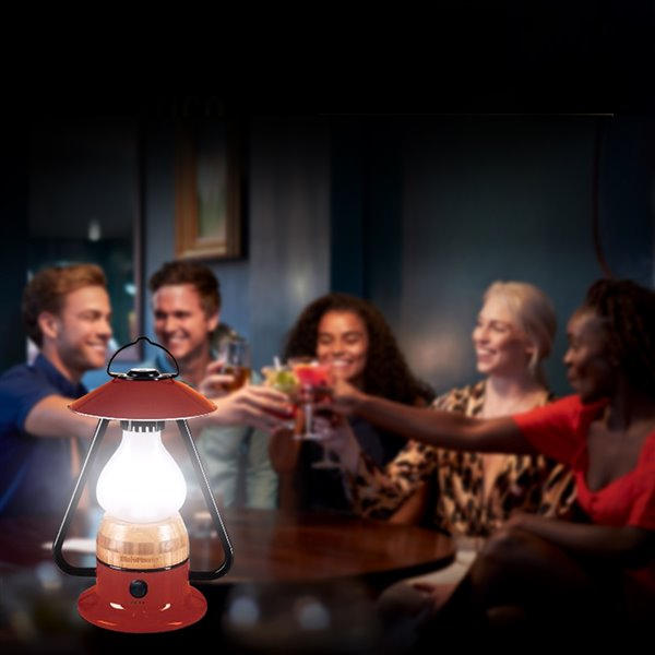 Lanterne de camping DEL rechargeable Romantico jaune 240 lumens de Tru De-Light ( Batterie incluse )