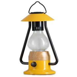 Tru De-Light Romantico 240 Lumens LED Rechargeable Yellow Camping Lantern ( Battery Included )