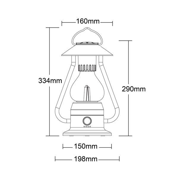 Lanterne de camping DEL rechargeable Romantico 210 lumens de Tru De-Light ( Batterie incluse )