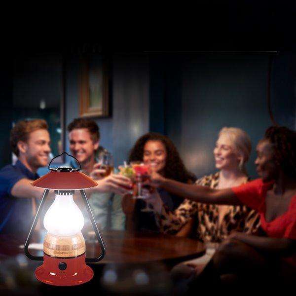 Lanterne de camping DEL rechargeable Romantico bleue 240 lumens de Tru De-Light ( Batterie incluse )