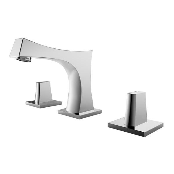 Lavabo rectangulaire en céramique blanche d'American Imaginations avec robinet et trop-plein inclus (14,35 po x 20,75 po)