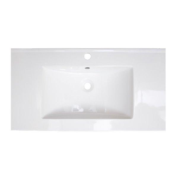 Comptoir à lavabo simple Flair d'American Imaginations en argile réfractaire, 32 po