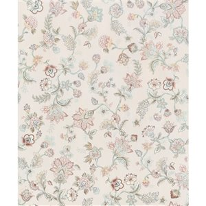Walls Republic Fiore 57-sq. ft. Off-White Non-Woven Textured Floral Unpasted Paste-the-Wall Wallpaper