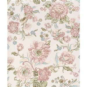Walls Republic Fiore 57-sq. ft. Pink Non-Woven Paintable Textured Floral Unpasted Paste-the-Wall Wallpaper