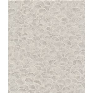Walls Republic Fiore 57-sq. ft. Grey/Silver Non-Woven Paintable Textured Shells Unpasted Paste-the-Wall Wallpaper