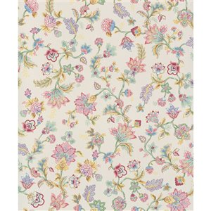 Walls Republic Fiore 57-sq. ft. Off-White Non-Woven Paintable Textured Floral Unpasted Wallpaper