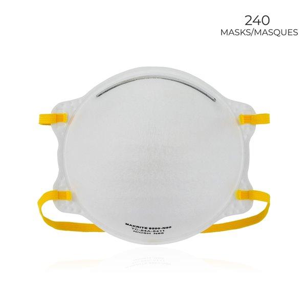 Makrite 9500-N95, NIOSH N95 et respirateur chirurgical approuvé par la FDA, 240
