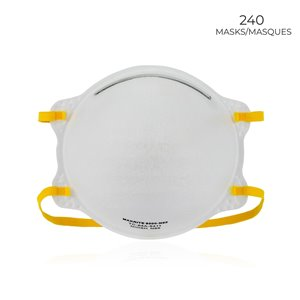 Makrite 9500-N95, NIOSH Respirator, FDA Cleared for Surgical, Pack of 240
