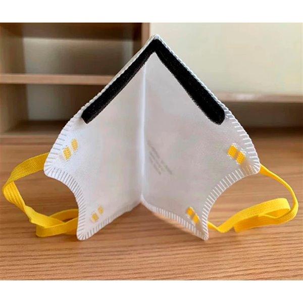 Masque de sécurité tout usage à usage unique de taille moyenne/grande Sekura-N95 de Makrite, paquet de 240