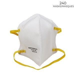 Makrite Sekura-N95 Disposable Medium/Large All-Purpose Safety Mask - 240-Pack