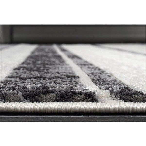 Tapis contemporain moderne de LaDole Rugs, 8 pi x 10 pi, gris clair