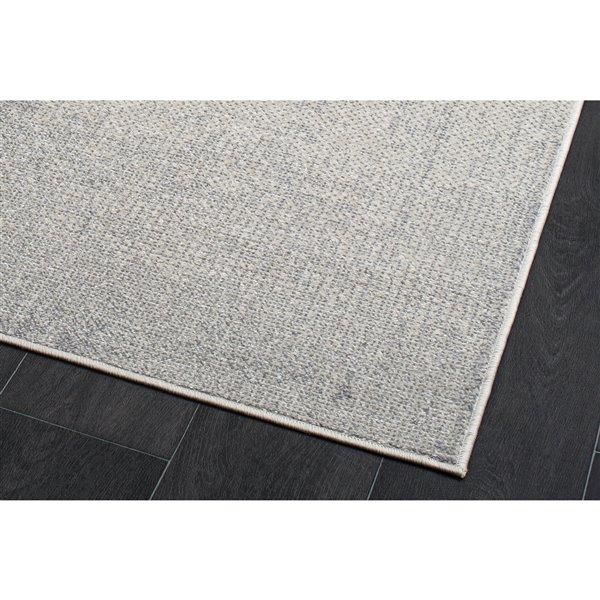 Tapis rustique moderne gris Logan de LaDole Rugs, 6 pi x 9 pi, gris