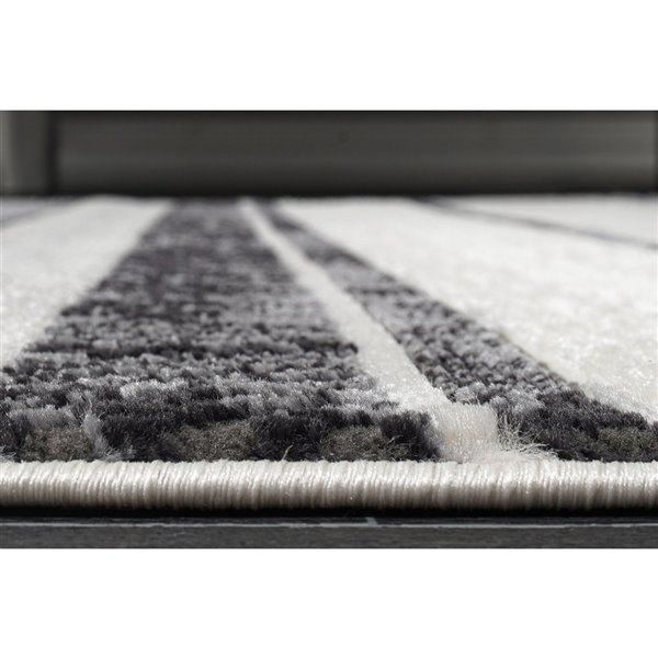 Tapis contemporain moderne de LaDole Rugs, 5 pi x 7 pi, gris clair