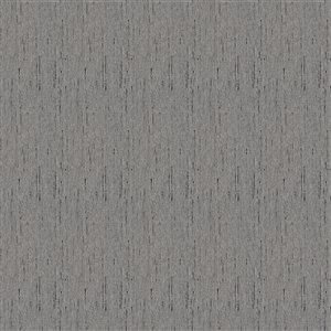 Tissu mural  non tissé et non encollé Classic Madison de Be Shine, motif uni gris foncé, 100 pi²