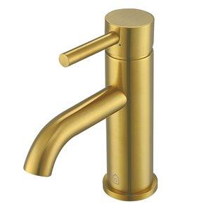 Robinet de salle de bain Valencia à levier en or brossé de Ancona