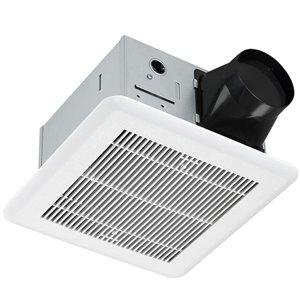 Ventilateur de salle de bain blanc 1,4 sone 110 pcm certifié Energy Star par Ancona