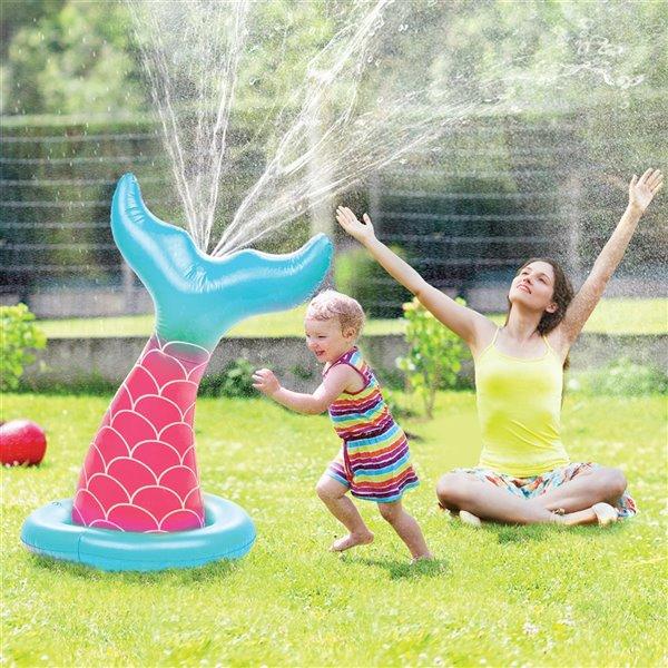 Arroseur gonflable géant en sirène, 15pi², de Splash Buddies