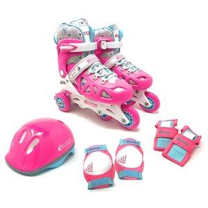 Chicago Skates - Ensemble de patins à roulettes roses ajustables, taille J10-J13