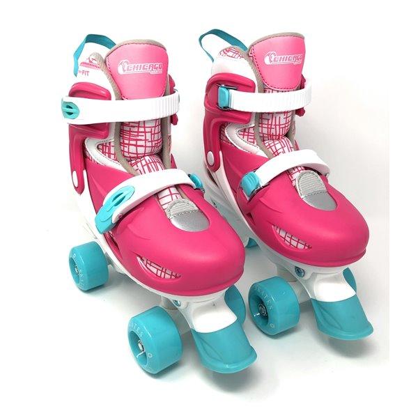 Patins à roulettes ajustables pour enfants avec accessoires, bleu, taille 1-4