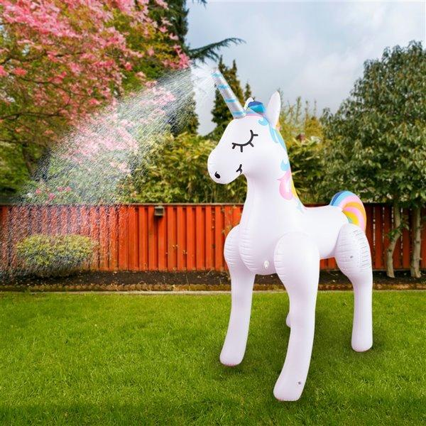 Arroseur gonflable géant en licorne, 15pi², de Splash Buddies