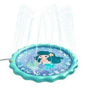 Tapis d'extérieur éclaboussant de sirène, 15pi², de Splash Buddies