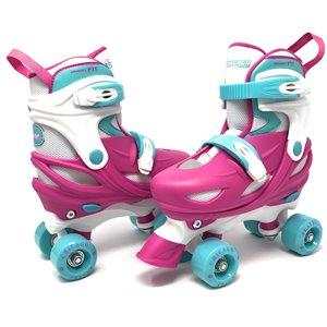 Chicago Skates – Patins à roulettes rose ajustables pour filles, taille 1-4