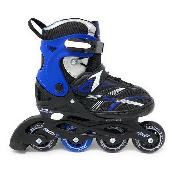 Chicago Skates - Patins à roulettes bleus ajustables MA7, taille 5-9