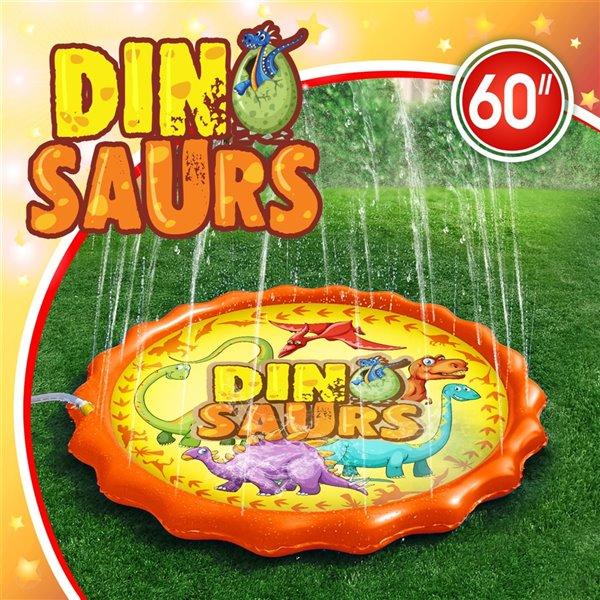 Tapis d'extérieur éclaboussant de dinosaure, 15pi², de Splash Buddies