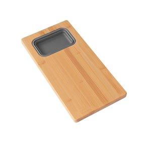 Planche à découper Azuni pour évier, en Bamboo, 16.75 po l. x 8.5 po L. (1 contenant inclus)