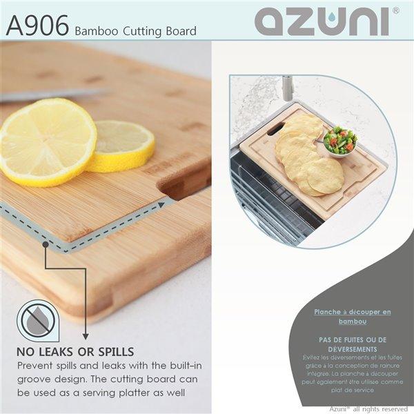 AZUNI 16.75 l. x 11 L. BambooCuttingBoardfor Kitchen Sink