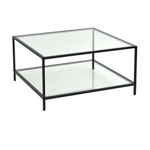 FurnitureR Hudd Clear Glass Coffee Table