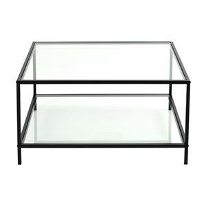 Table basse Hudd transparente en verre de FurnitureR