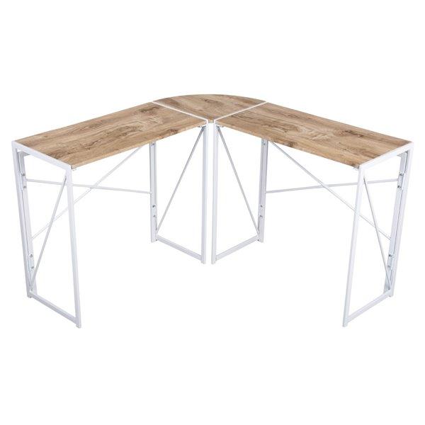 Bureau en forme de L moderne/contemporain Albertin 47,05 po de FurnitureR