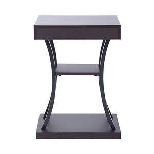Table d'appoint Zolinski carrée brune en composite de FurnitureR