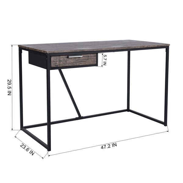 Bureau d'ordinateur moderne/contemporain Scannah 47,24 po de FurnitureR