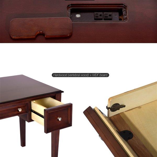 Bureau d'écriture traditionnel Mildred 50,4 po de FurnitureR
