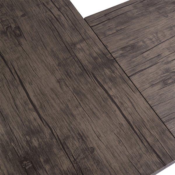 FurnitureR Drogba 27.56-in Brown Modern/Contemporary L-shaped desk