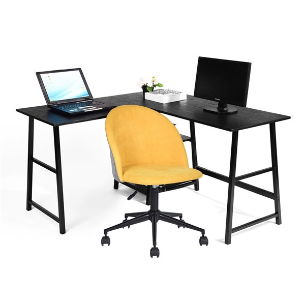 Bureau en forme de L moderne/contemporain Drogba 27,56 po de FurnitureR
