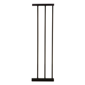 Rallonge de barrière de sécurité en métal Boston de Dreambaby, 8,25 po x 29 po, noir