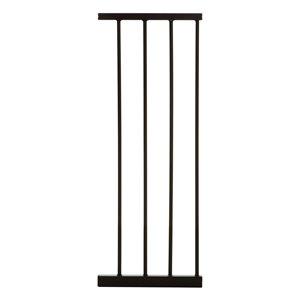 Rallonge de barrière de sécurité en métal Boston de Dreambaby, 11 po x 29 po, noir