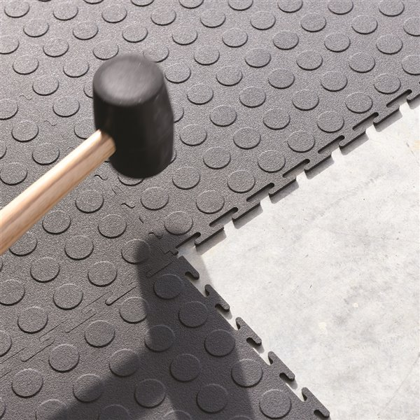 Carreaux de sol pour garage Versatex, 18 po x 18 po, gris, 8 pièces