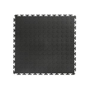 Versatex 8-piece 18-in x 18-in Black Raised Coin Garage Floor Tile