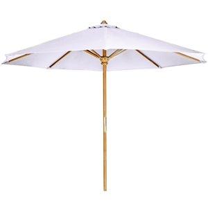 All Things Cedar 10-ft Teck Market Patio Umbrella