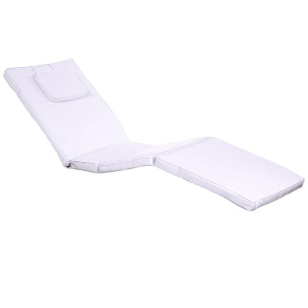 All Things Cedar 1 Piece Royal White, Chaise Lounge Patio Chair Cushions