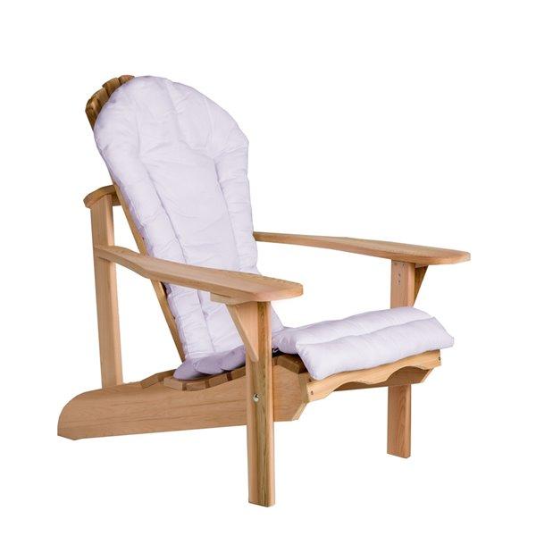 Coussin de chaise de patio Adirondack avec dossier haut par All Things Cedar, lot de 1, blanc royal