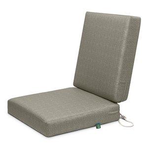 Coussin de chaise de patio carré Weekend de Duck Covers, pierre lunaire